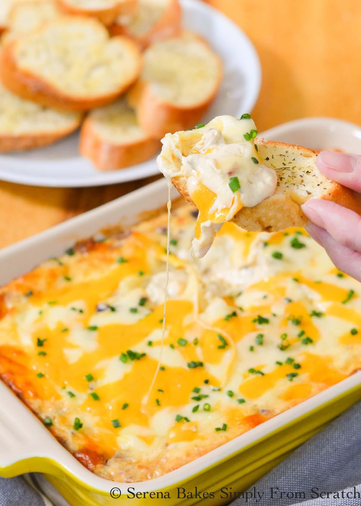 Hot Cheesy Bacon Dip