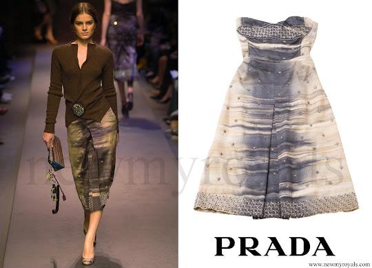 Crown Princess Mary wore Prada Multicolor A-Line Skirt