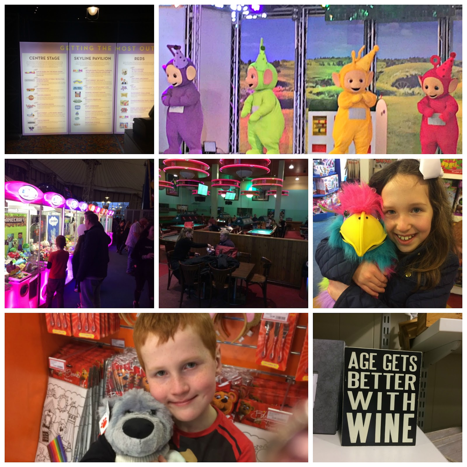 Collage of pictures in the Skyline Pavilion Butlins Minehead