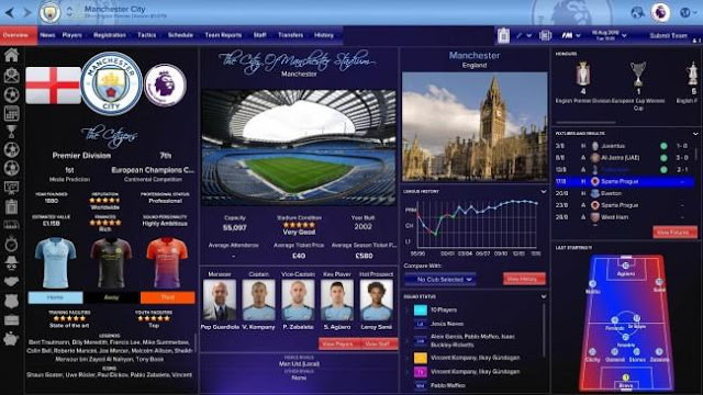 Sky Sports Skin 1.0.0 Football Manager 2017
