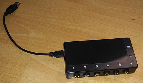 Teensy 2.0++ Switch Interface - box with switch sockets.