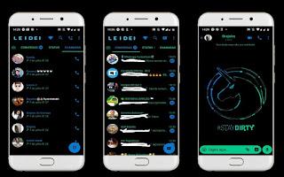 Black Unicorn Theme For YOWhatsApp & Fouad WhatsApp By Leidiane