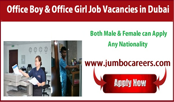Recent office jobs in Dubai, Dubai office jobs salary details,