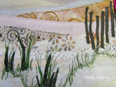 Accidental Landscape:  Beaches.  The quilted art of Marty Mason .   Layered curves, a workshop taught by Karen Eckmeier