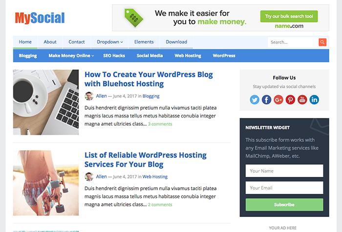 Best free responsive premium wordpress themes by happythemes maxwellsz