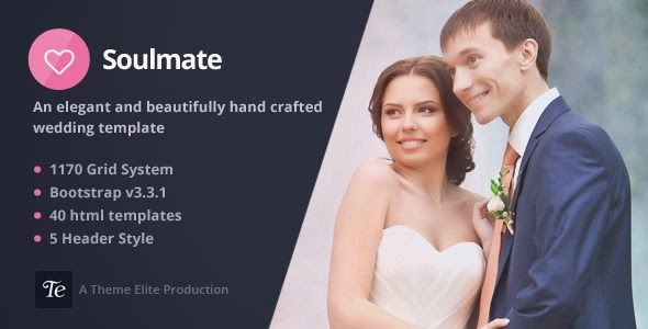Best Responsive Bootstrap 3 Wedding Template 2015