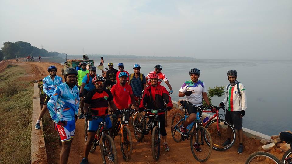 Geroge receives a bike ride