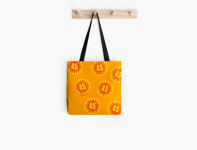 45 degrees badge pattern bag - scorchio