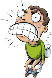 sakit di anus dengan mendadak dibarengi keringat dingin, pusing, serta seperti ingin pingsan