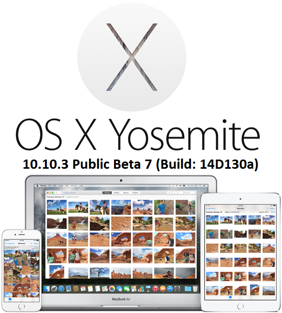 Download OS X 10.10.3 Beta 7 Yosemite Delta & Combo .DMG Files - Direct Links