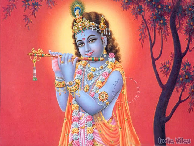 Why the Lord Krishna is Coloured Blue Body?