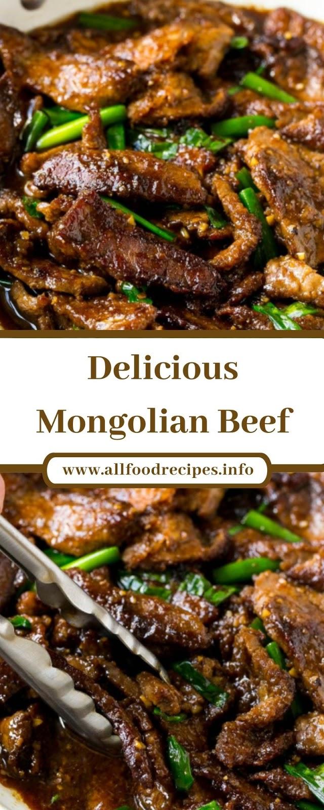 Delicious Mongolian Beef