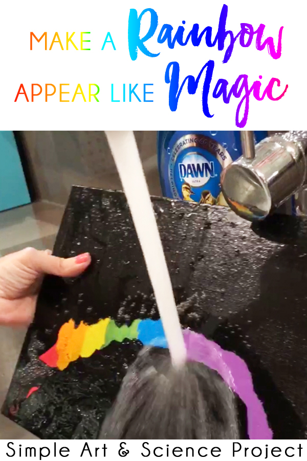 Preschool and Kindergarten Art Project Rainbow Art Project