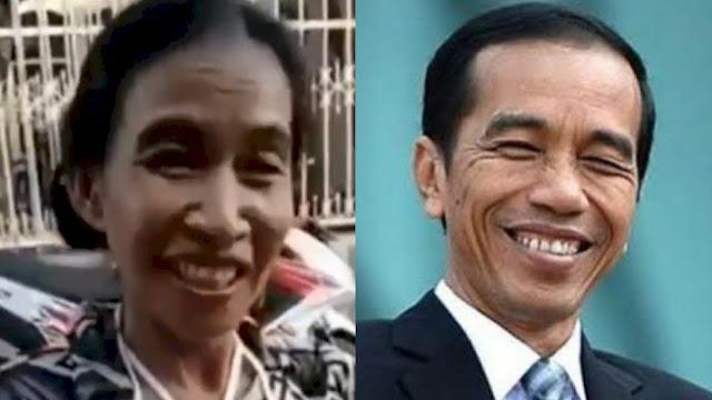 Viral, Ibu-ibu Ini Punya Wajah Mirip Presiden Jokowi, Netizen: Sumpah Mirip Banget