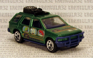 NICKELODEON RUGRATS ISUZU RODEO SUV GREEN RARE MATCHBOX LOOSE