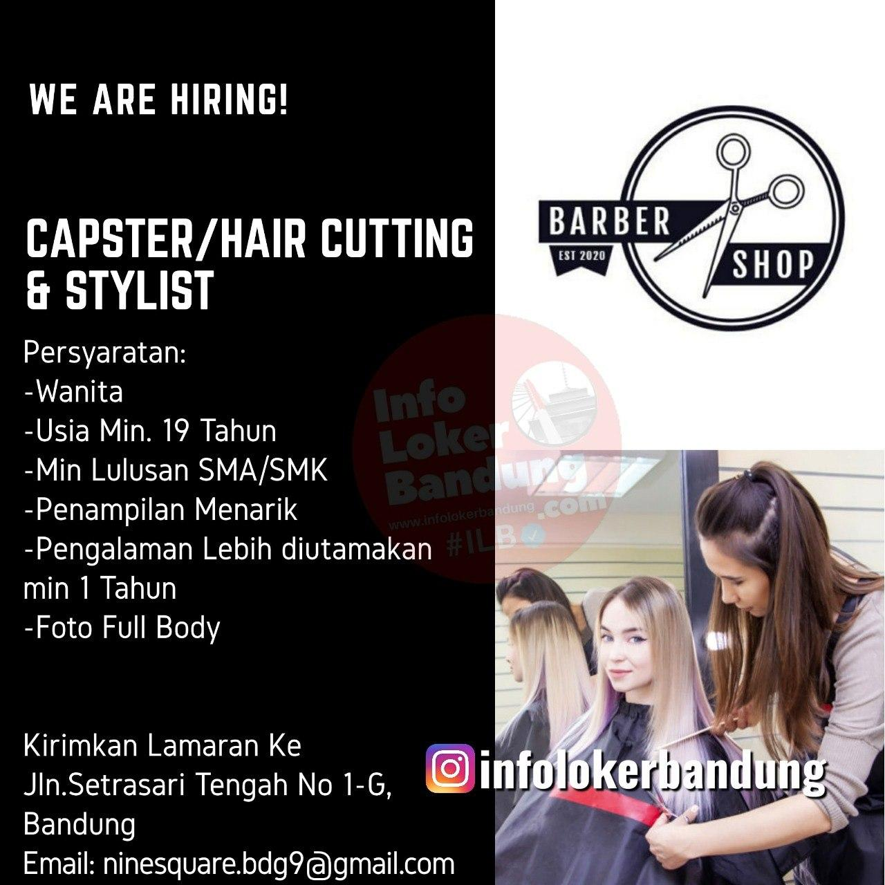 Lowongan Kerja Capster / Hair Cutting & Stylist Bandung Agustus 2020