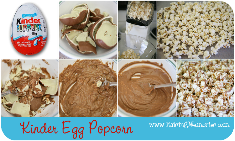 What to make with Melted Kinder Eggs by www.RaisingMemories.com