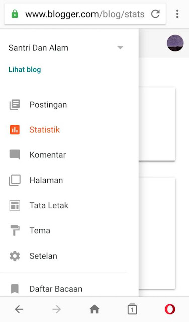Tampilan  Responsive  Dashboard Blogger  2019