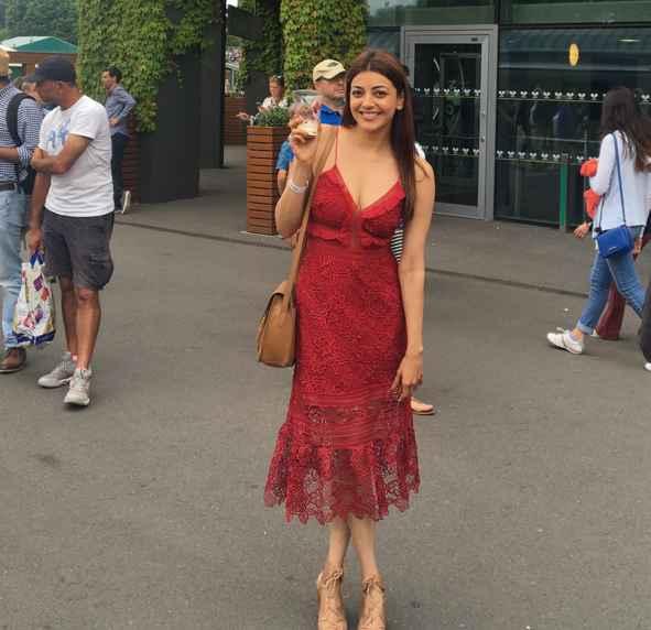 Kajal Agrawal at Wimbledon 2017
