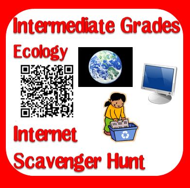 Free internet scavenger hunt for ecology from Raki's Rad Resources.