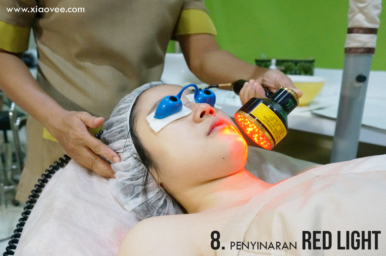 penyinaran red light, facial red light, facial dengan menggunakan red light