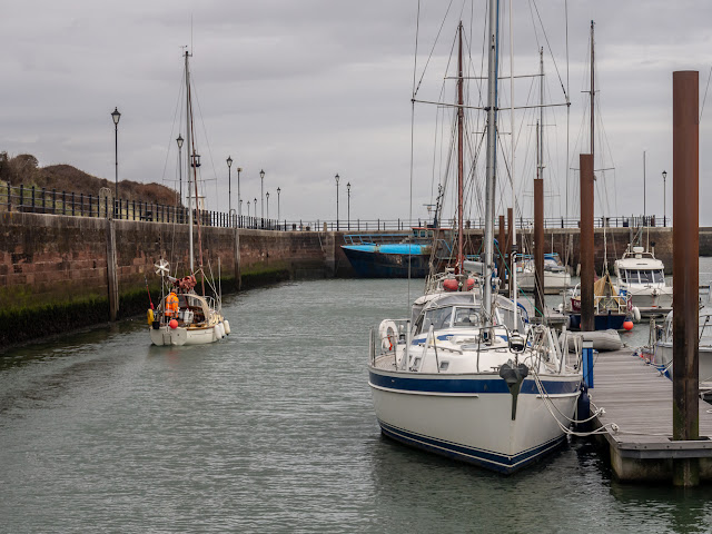 Photo of fairly calm conditions at Maryport Marina on Monday