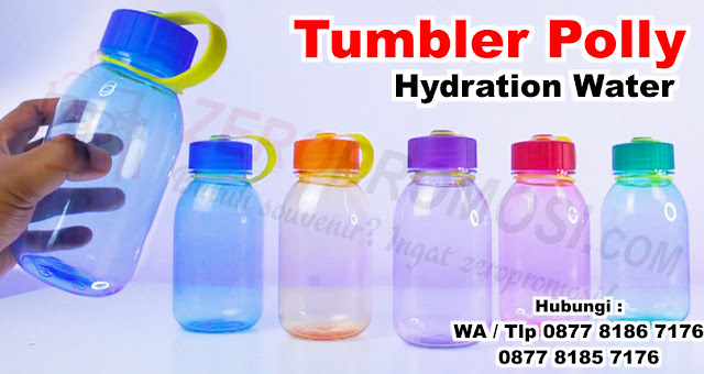Outdoor Water Bottle, Polly Hydration Water Bottle untuk souvenir, Jual polly Hydration Water Bottle,  Botol Minum Food Grade, Souvenir tumbler polly hydration, Polly bottle, chielo bottle, botol minum, plastic sports bottle, Polly hidartion water tumbler promosi