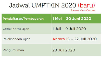 jadwal pendaftaran umptkin 2020