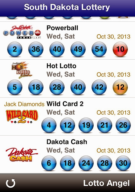 USA South Dakota Lottery Results (Oct 30, 2013)