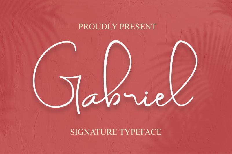 Gabriel Font - Free Fashionable Script Typeface