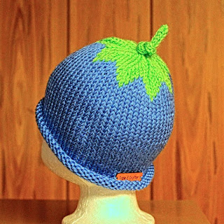 "alt=""handmade knitted baby blueberry hat on Etsy"""