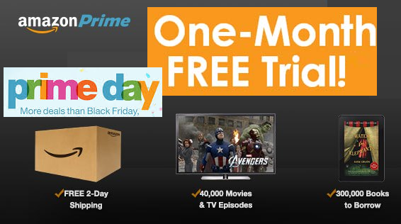 Amazon prime one month free trial