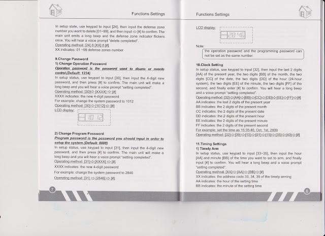 Manual Book Alarm Hisomu HSM-499W