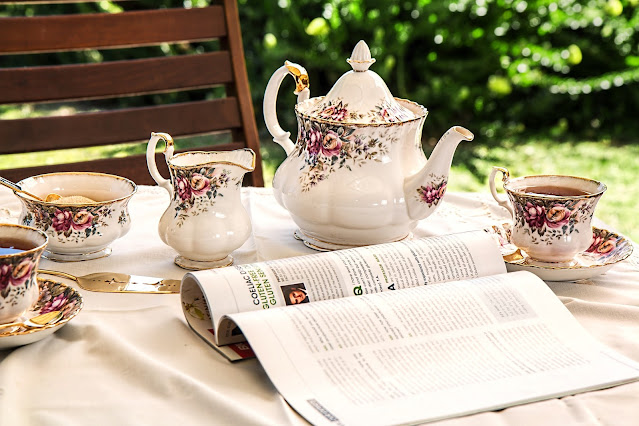 outdoor afternoon tea party