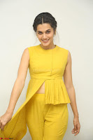 Taapsee Pannu looks mesmerizing in Yellow for her Telugu Movie Anando hma motion poster launch ~  Exclusive 051.JPG