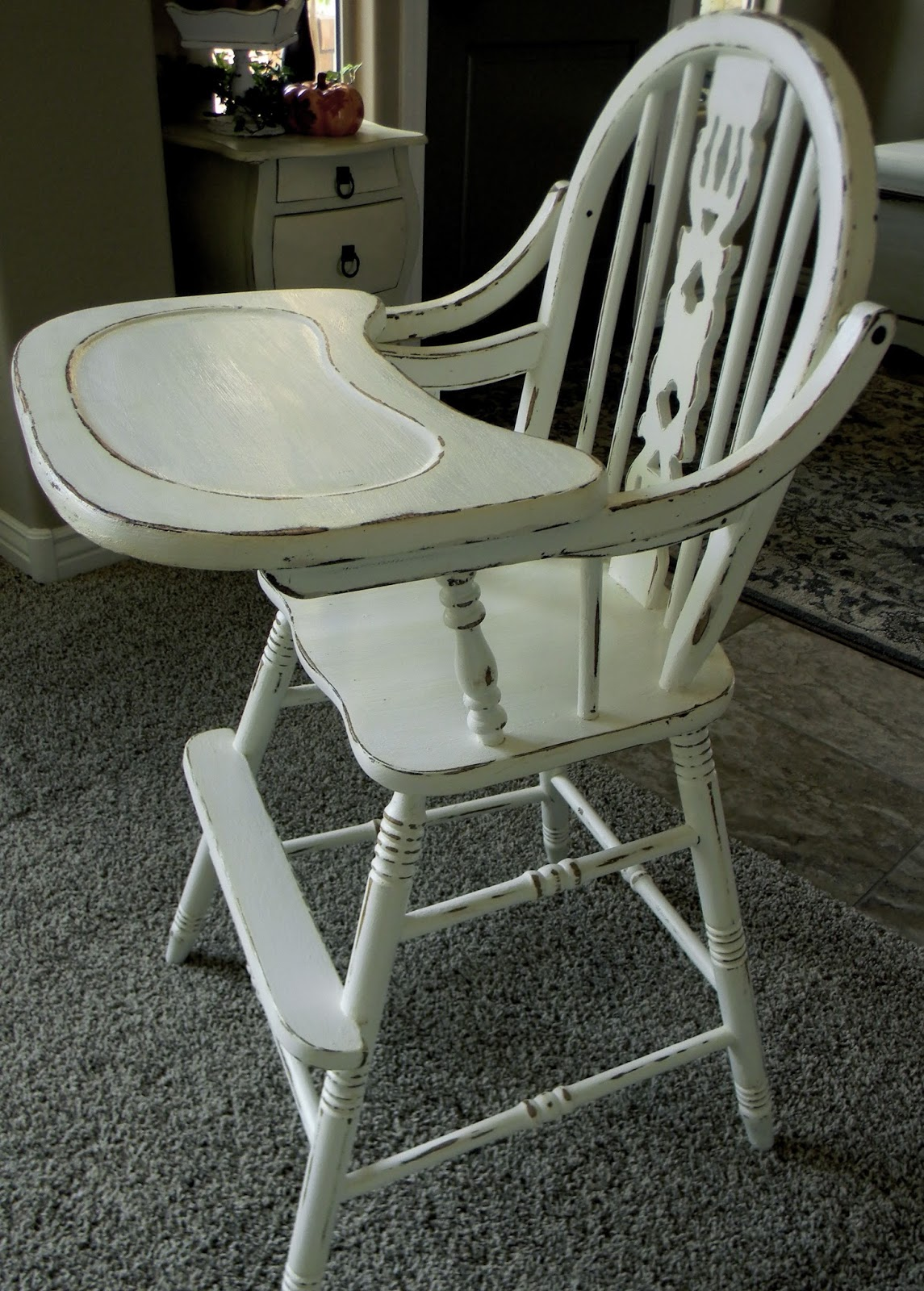 antique high chairs tempur pedic tp4000 chair little bit of paint refinished