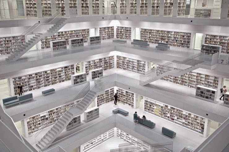 11. Library in Stuttgart, Germany - 31 Incredible Libraries and Bookstores Around the World