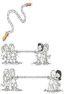 Brincadeiras crianças-corda