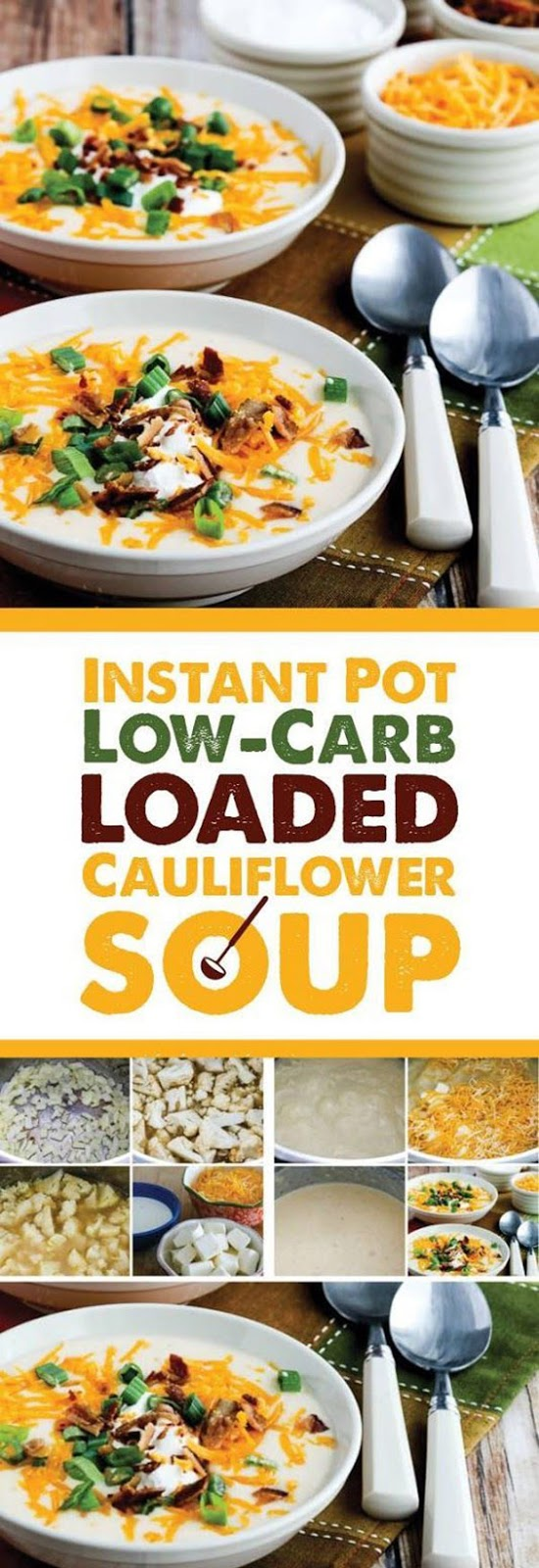 Instant Pot Low-Carb Loaded Cauliflower