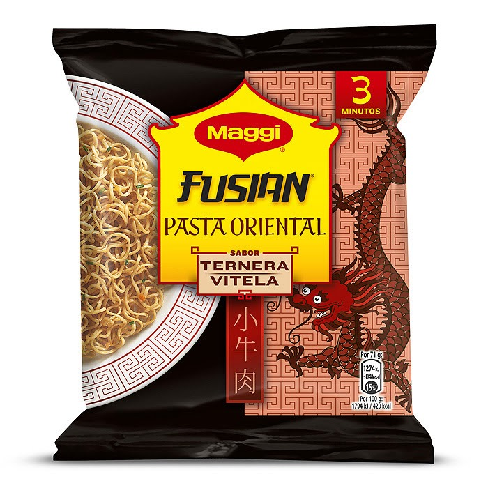 Ingredientes - Maggi Fusian Ternera