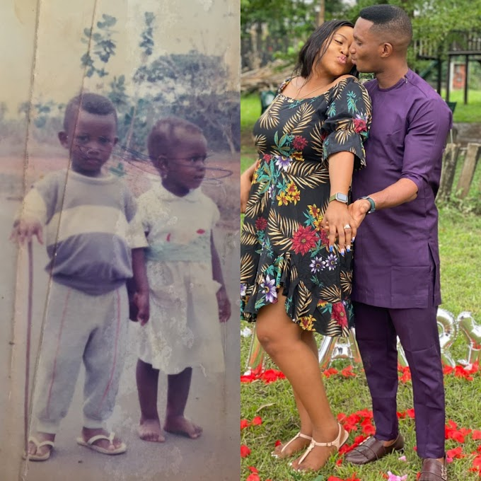 How it started Vs How it's going: Couple who have known since they were toddlers get engaged