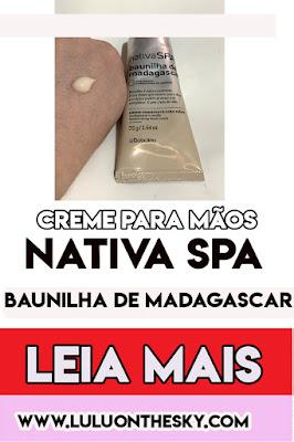 Creme para Mãos  Nativa SPA Baunilha de Madagascar - O Boticário