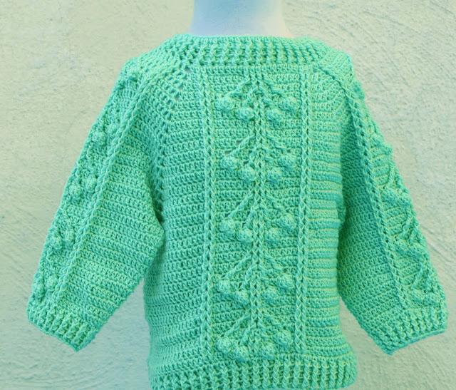 4 -Crochet Imagen Jersey con punto relieve especial invierno por Majovel Crochet