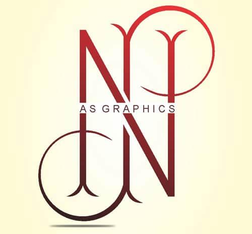NP Alphabet Logo Design Vector