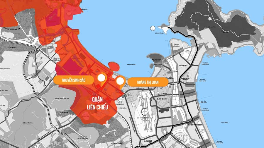 Bản đồ nhiệt bất động sản quận Liên Chiểu, Đà Nẵng