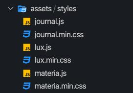 File directory of assets folder
