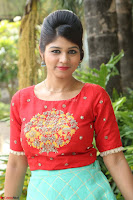 Lucky Shree Looks super cute in Bright Red Green Anarkali Dress ~  Exclusive 037.JPG