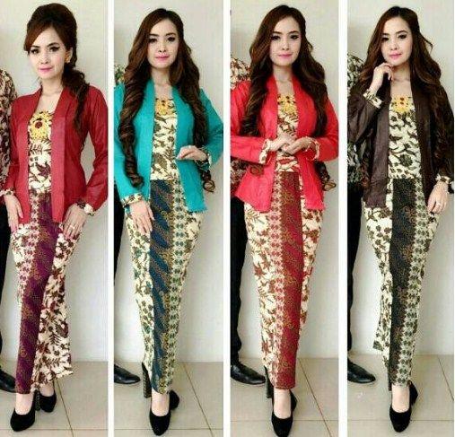29 Model Batik Setelan Rok Panjang Span Muslimah Berhijab Modern