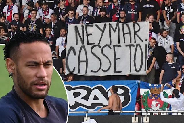 PSG fans turn on Neymar, ask Brazilian to leave club