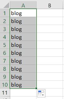 Arrastar e soltar texto na célula do Excel